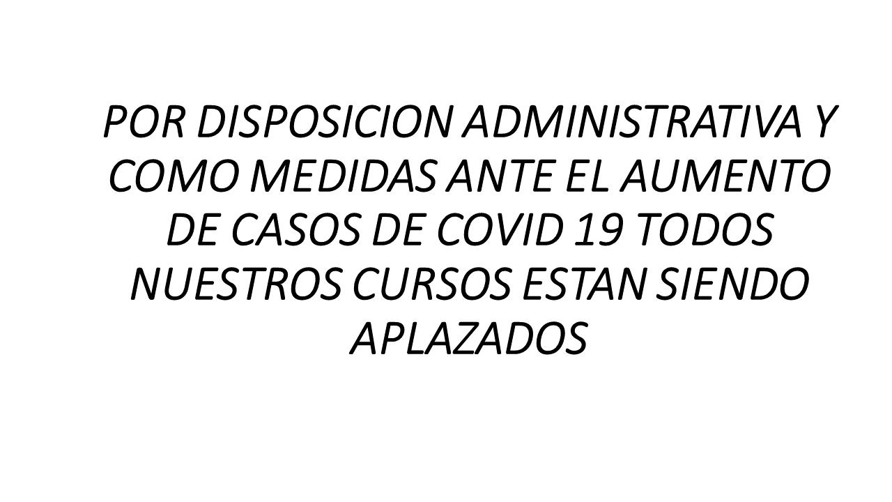 POR DISPOSICION ADMINISTRATIVA Y COMO MEDIDAS ANTE EL
